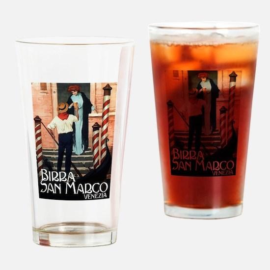 Vintage Italiano Birra Advertisement Drinking Glas