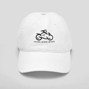 My Keys. My Bike. My Ride. (black) Baseball Cap