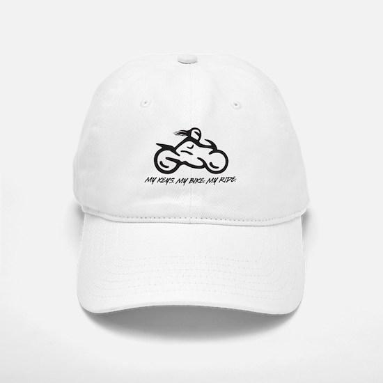 My Keys. My Bike. My Ride. (black) Baseball Baseball Baseball Cap