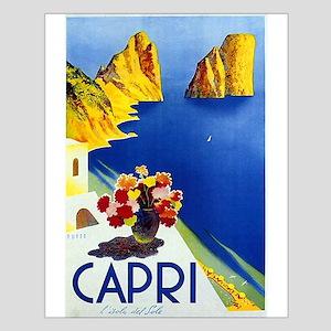 Vinatge Capri Tourism Poster Posters