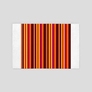 Colorful striped retro vintage design 4' x 6' Rug