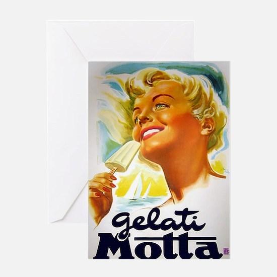 Vintage Italian Gelato Advertisement Greeting Card