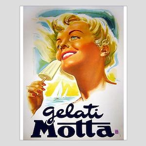 Vintage Italian Gelato Advertisement Posters