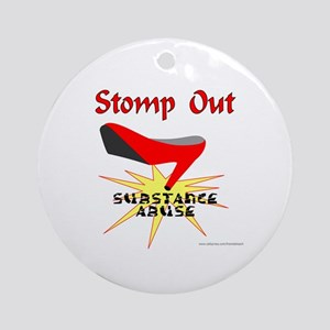 SUBSTANCE ABUSE AWARENESS Ornament (Round)