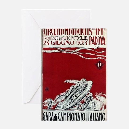 Vintage Italian Motorcycle Racing Advertisement Gr