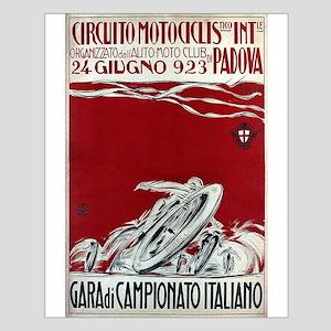 Vintage Italian Motorcycle Racing Advertisement Po