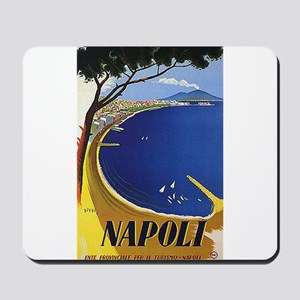 Vinatge Tourism Poster for Naples, Italy Mousepad