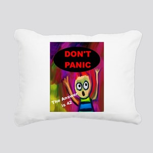 Don't Panic - The Answer is 42 Rectangular Canvas