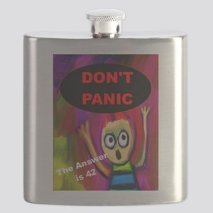 Don't Panic - The Answer is 42 Flask