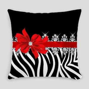 Zebra (red) Everyday Pillow