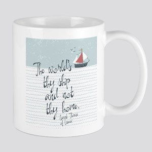 The World's Thy Ship Mugs