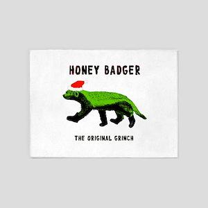 Honey Badger, The Original Grinch 5'x7'Area Rug
