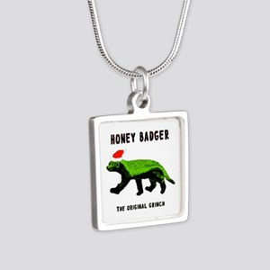 Honey Badger, The Original Silver Square Necklace