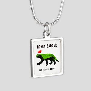 Honey Badger, The Original Silver Square Necklace