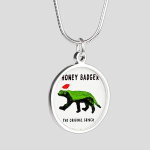 Honey Badger, The Original G Silver Round Necklace