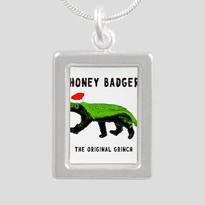 Honey Badger, The Origin Silver Portrait Necklace