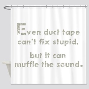 Muffle the Sound Shower Curtain