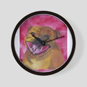 Unique Staffordshire Bull Ter Wall Clock