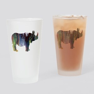 Rhinoceros Drinking Glass