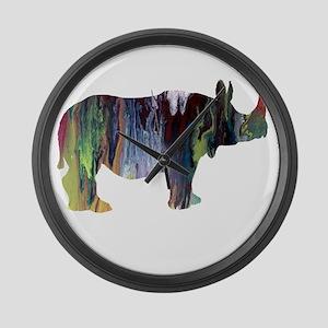 Rhinoceros Large Wall Clock