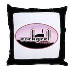 rockgrrl Throw Pillow