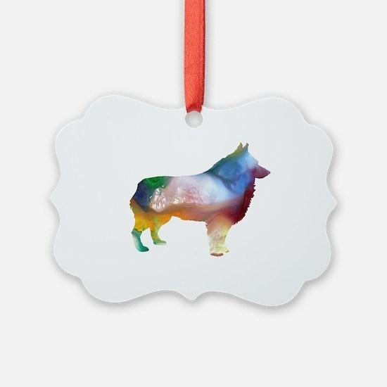 Funny Schipperke art Ornament