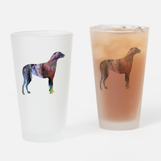 Cute Scottish deerhound Drinking Glass