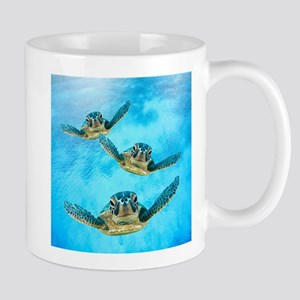Baby Turtles in the Sea Mugs