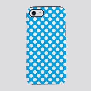 Blue and white polka dots pa iPhone 8/7 Tough Case