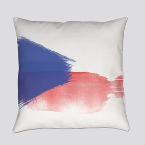 czech flag republic Everyday Pillow