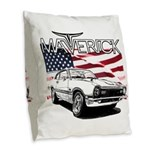 Maverick Burlap Throw Pillow
