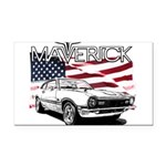 Maverick Rectangle Car Magnet