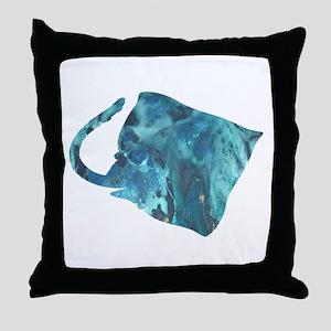 devil ray Throw Pillow