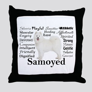 Samoyed Traits Throw Pillow
