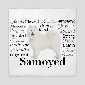 Samoyed Traits Queen Duvet