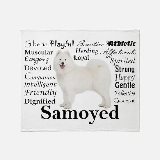 Samoyed Traits Throw Blanket