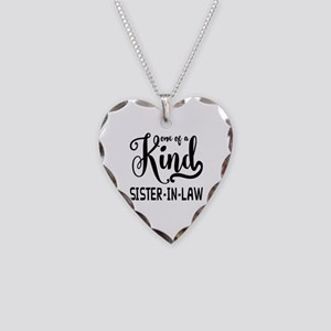 One of a kind Sister-in-law Necklace Heart Charm