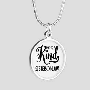 One of a kind Sister-in-law Silver Round Necklace