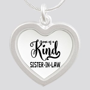One of a kind Sister-in-law Silver Heart Necklace