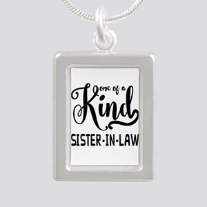 One of a kind Sister-in- Silver Portrait Necklace