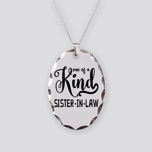 One of a kind Sister-in-law Necklace Oval Charm