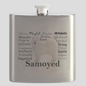 Samoyed Traits Flask