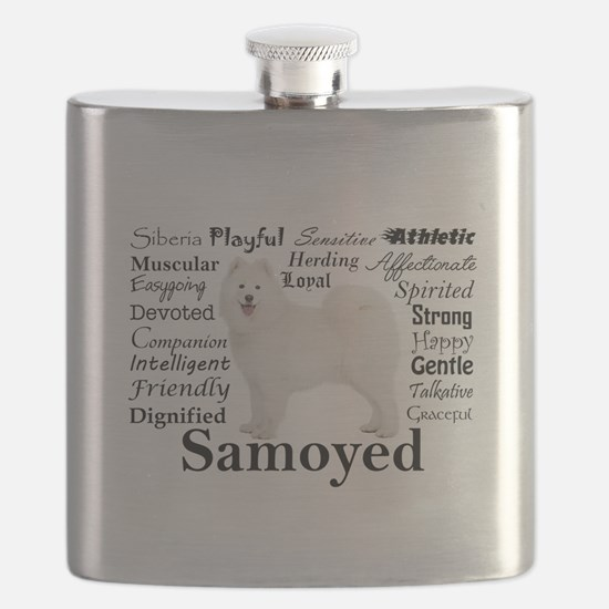 Samoyed Traits Flask
