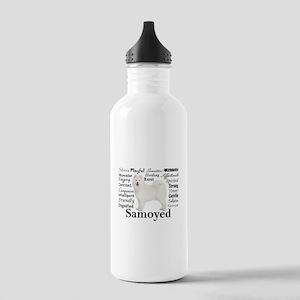 Samoyed Traits Water Bottle