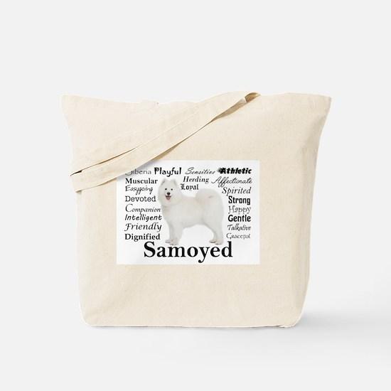 Samoyed Traits Tote Bag