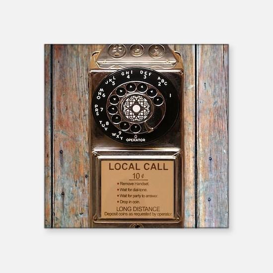 """Cute Phone booth Square Sticker 3"""" x 3"""""""