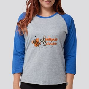 Leukemia Survivor 1 Butterfly 2 Long Sleeve T-Shir
