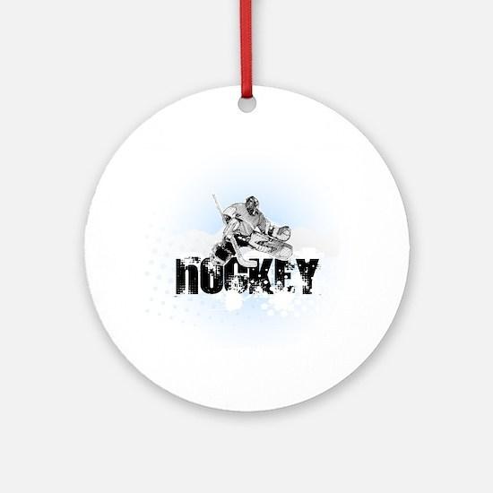 Hockey Player Round Ornament