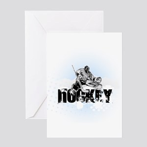 Hockey Player Greeting Cards