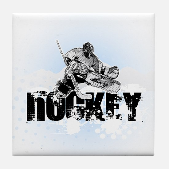Hockey Player Tile Coaster